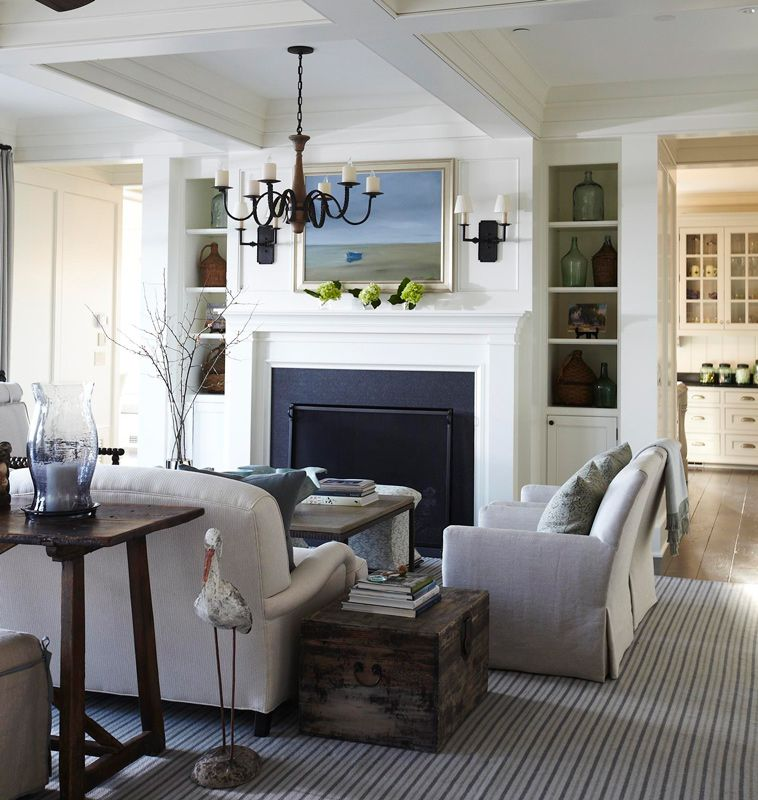 Casual, Classic Southern Beach House (With images ... on Fireplace Casual Living id=13882