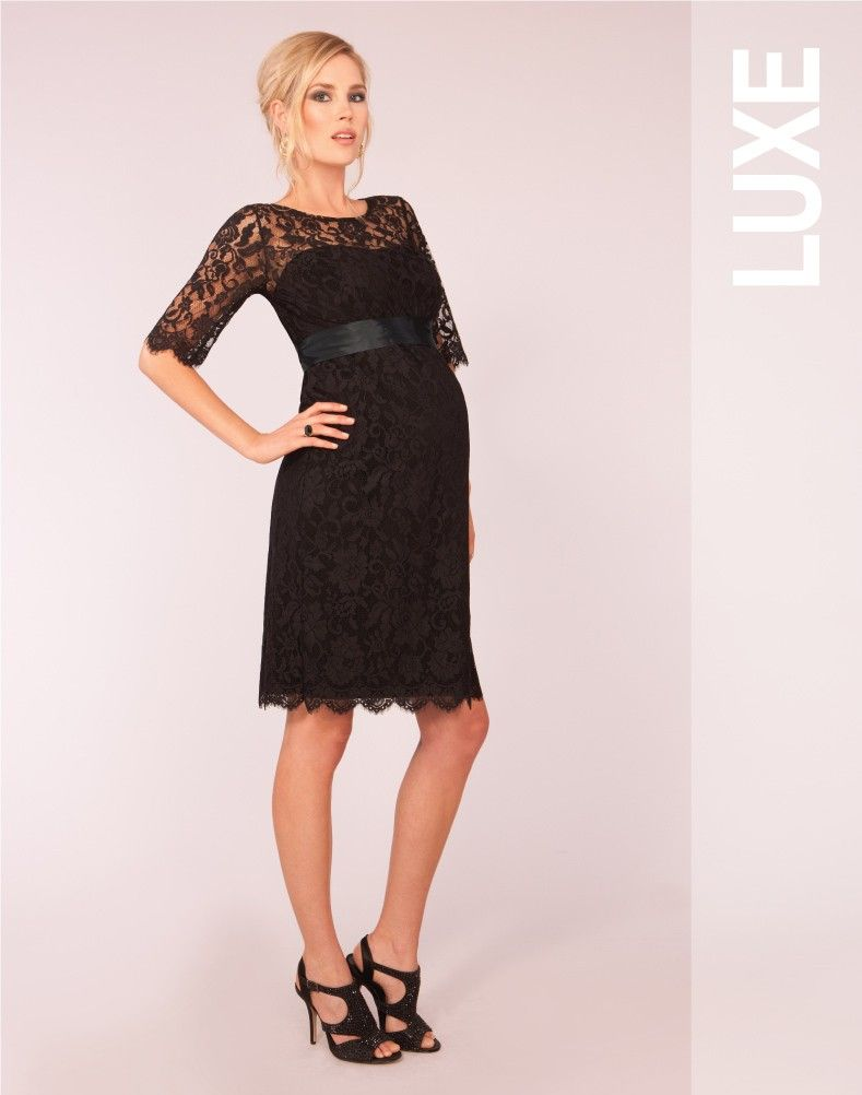 9b9b597f6beba Black Lace Maternity Cocktail Dress. Love this even though I'd have no  where to wear it :)