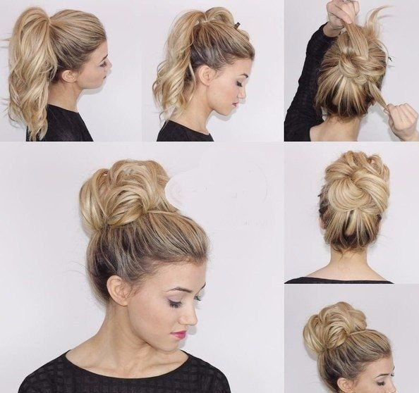 Easy Messy Bun From Ponytail Made On