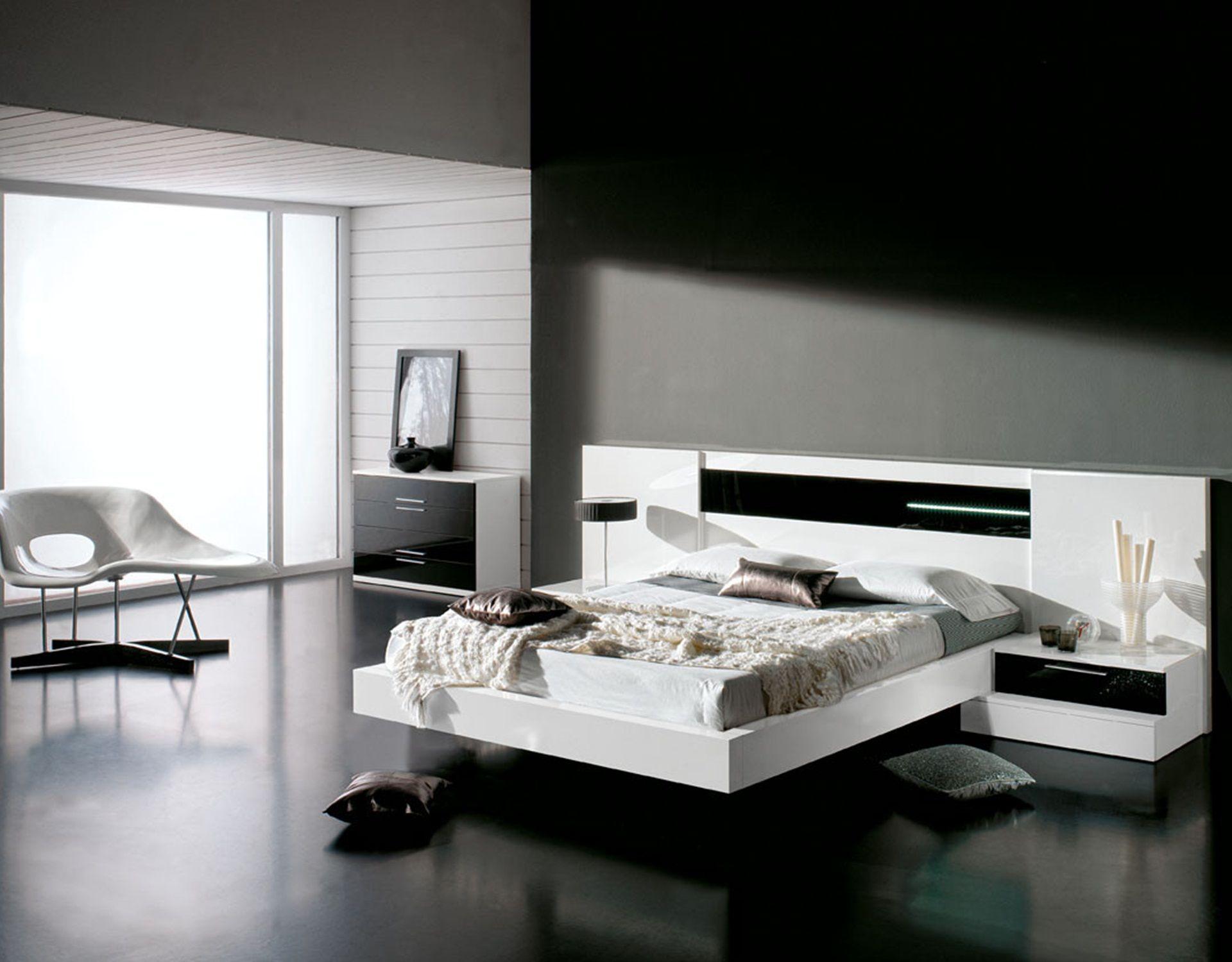 Una habitaci n elegante en blanco y negro a decorar mi for Disenador virtual de habitaciones