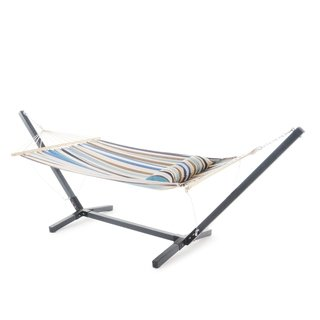 Outstanding Aspen Outdoor Water Resistant Hammock With Grey Larch Wood Gmtry Best Dining Table And Chair Ideas Images Gmtryco