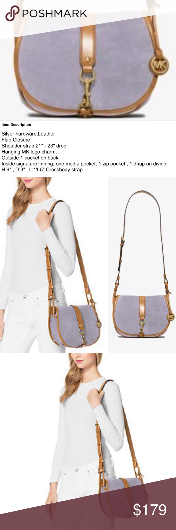 a31b352f84dfc1 Michael Kors Jamie Large Suede Crossbody Messenger Michael Kors Jamie  Saddle Bag Large Suede Crossbody Messenger Lilac Michael Kors Bags  Crossbody Bags