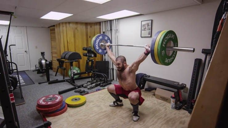 A look at mat frasers home gym worlds fittest man home garage