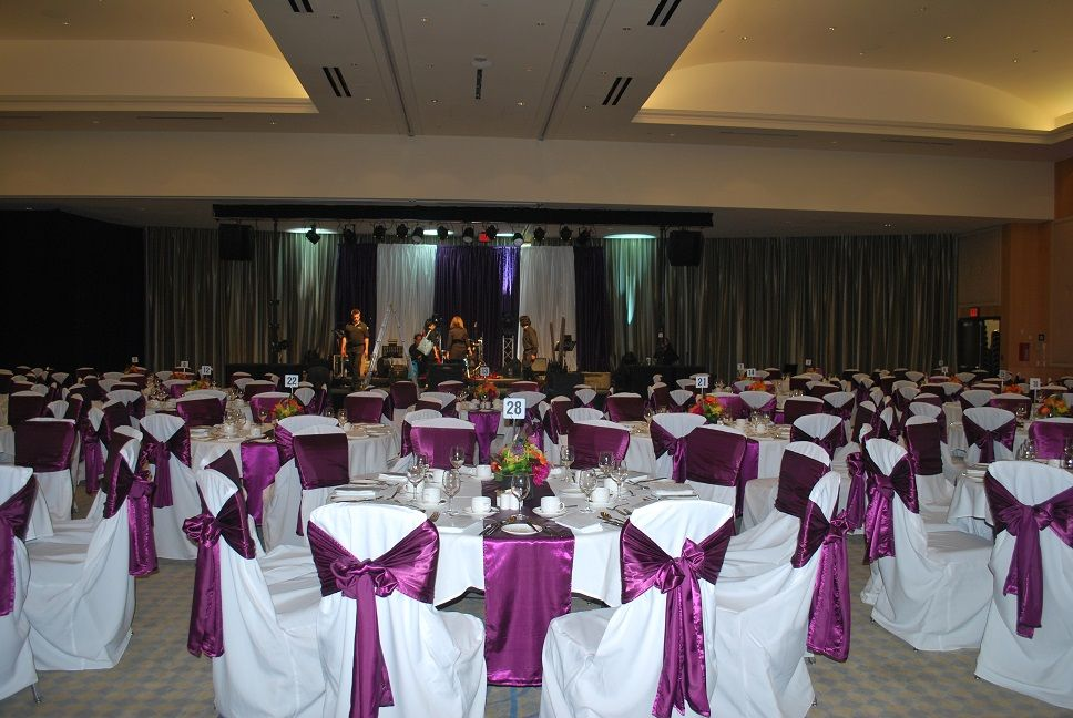 Http Rosechairdecor Com Wedding And Special Events Chair Covers And Decor In Burnaby Bc Grand Villa Casino Hotel Chair Covers Decor Wedding Decorations