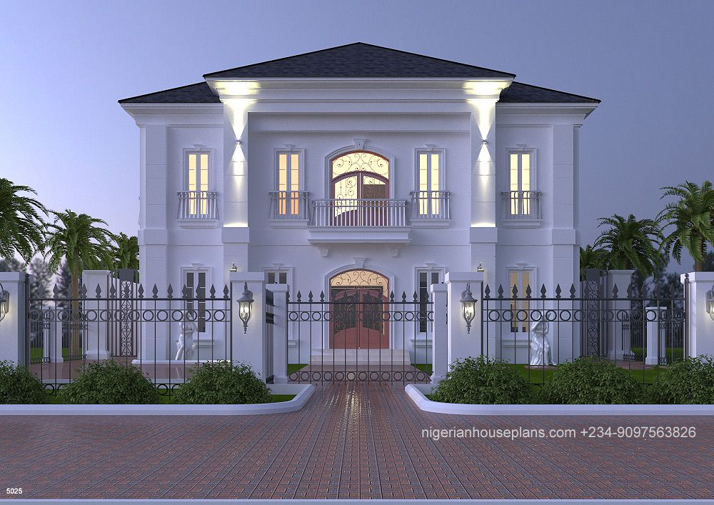 5 Bedroom Duplex Designed In Neo Classical Style With The Under Listed Spaces Ground Floor Entrance F Duplex House Design Beautiful House Plans Duplex Design