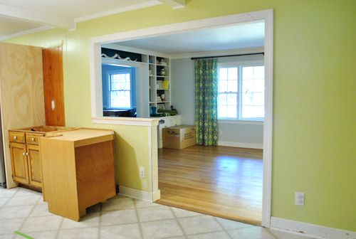 How To Trim Out A Cased Opening And A Half Wall Ranch Home Remodel