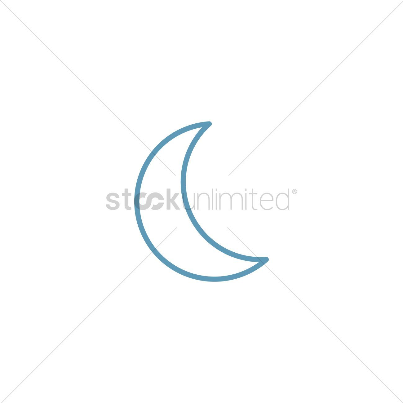 You Don't Have To Be A Designer To Get Awesome Visuals Crescent moon stock vector ,