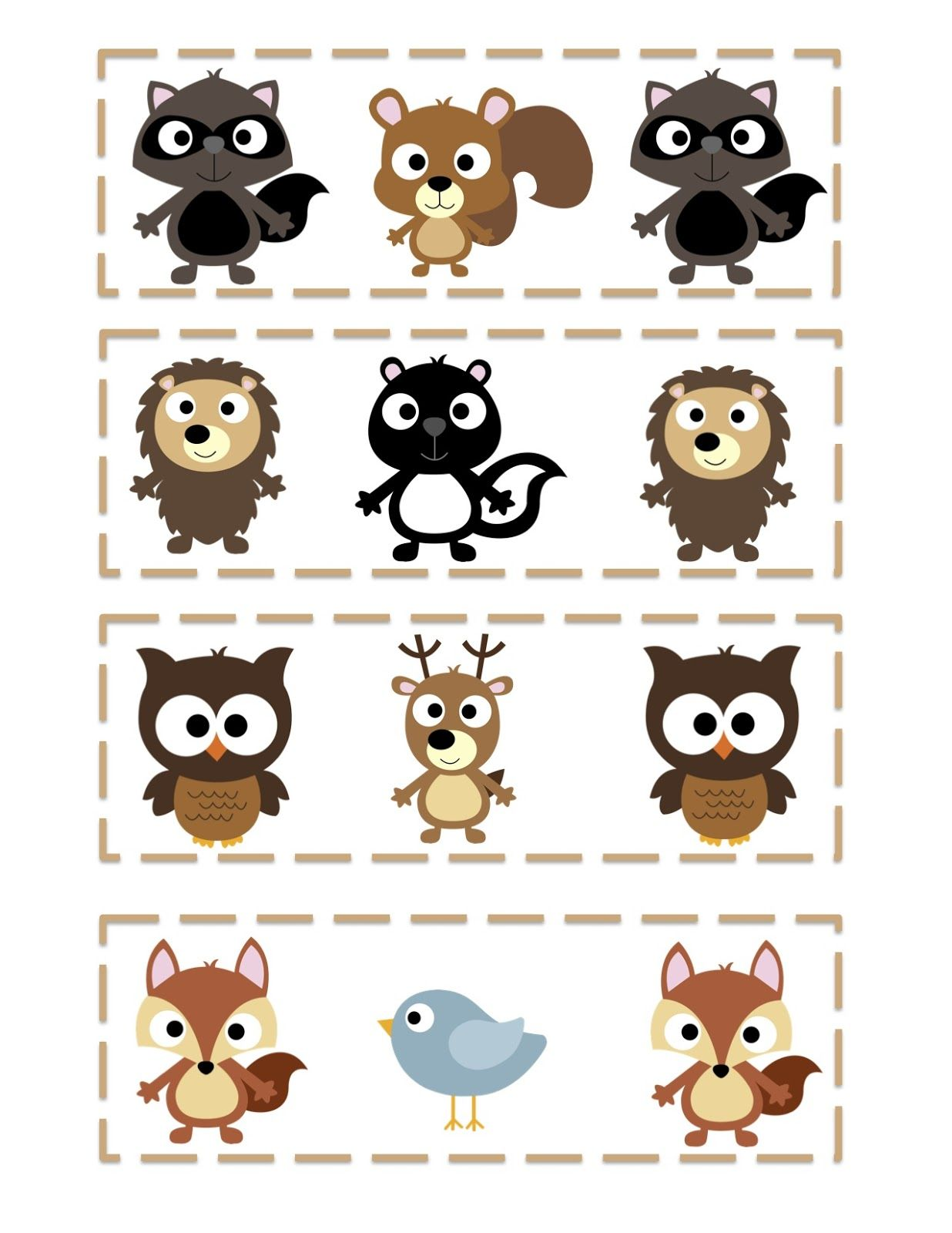 Free Forest Friends Printable