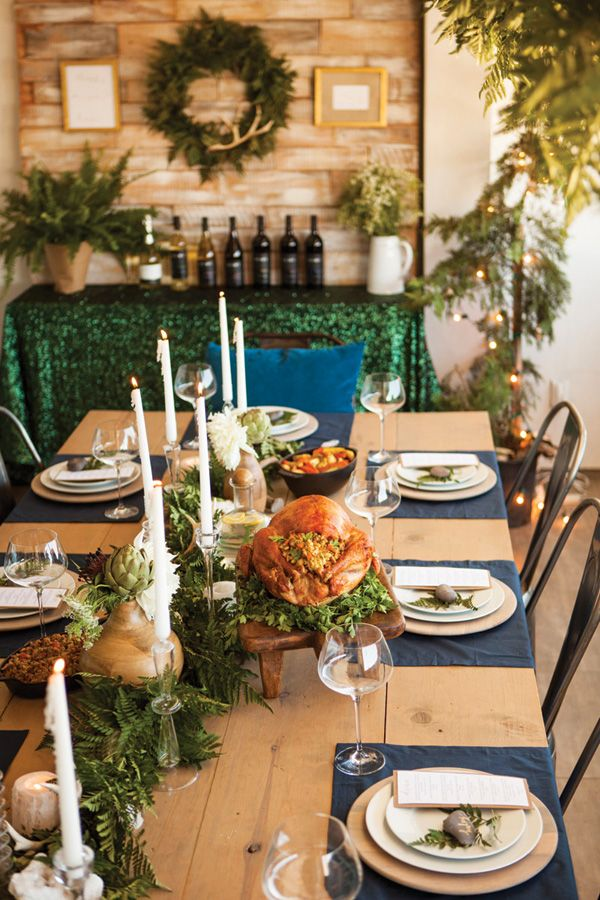 Christmas In July A Festive Elegant Summer Dinner Party