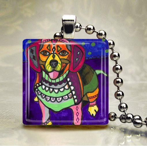 60% Off- Beagle Art Jewelry Necklace Pendant Print Handmade (HG164)