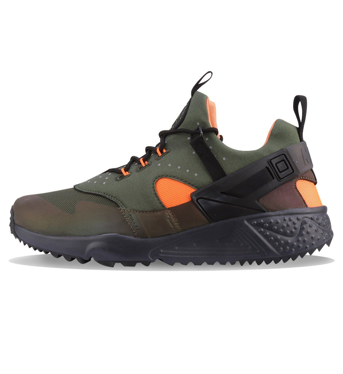 low priced a9539 33f22 Nike Air Huarache Utility Premium Carbon Green   Black   Orange   Anthrct -  Nike The Nike Air Huarache Utility Premium Men s Shoe is constructed in a  ...