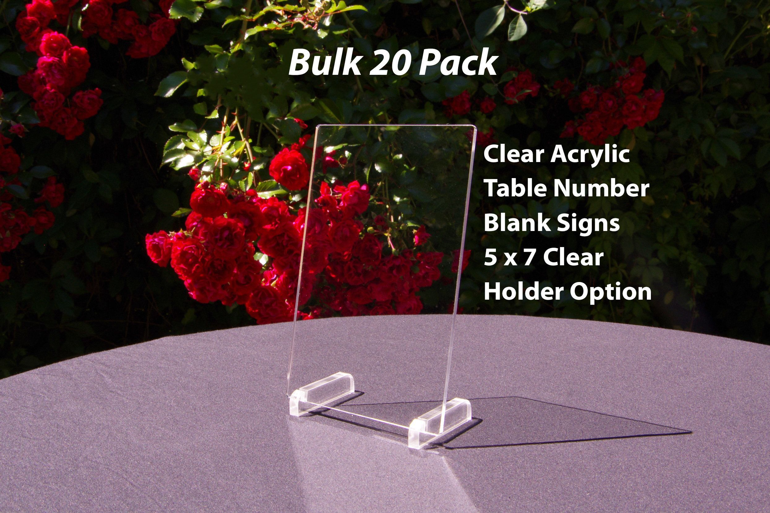 Acrylic Table Numbers Blanks