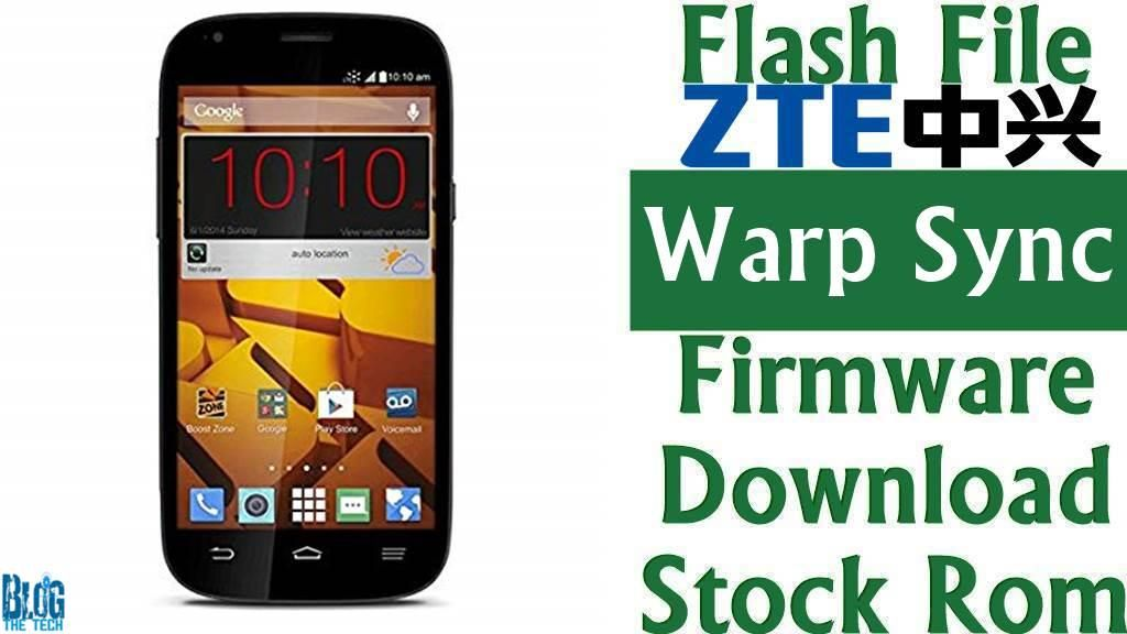 Flash File] ZTE Warp Sync N9515 Firmware Download [Stock Rom