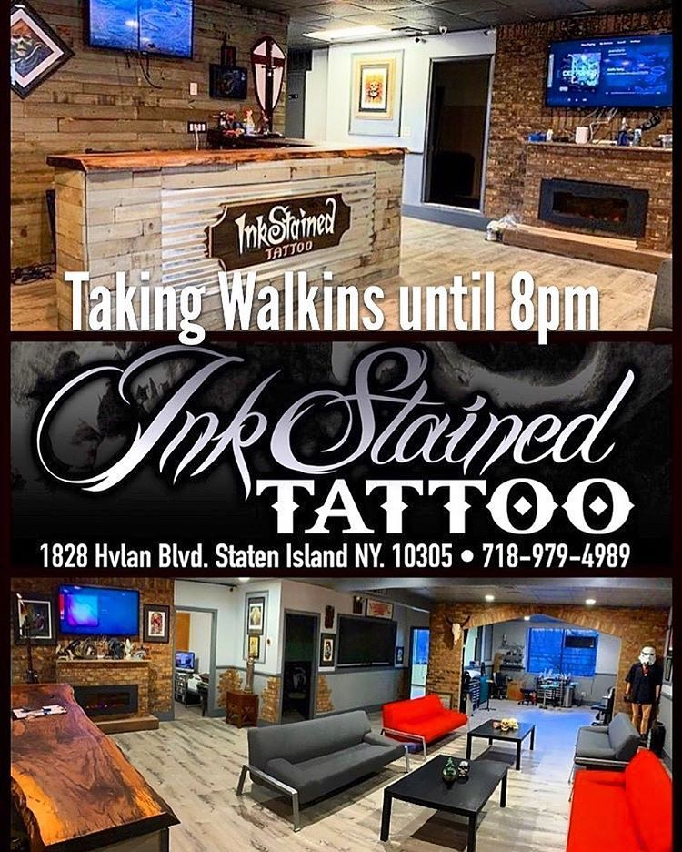 Walkins available today!! Open 128pm Inkstained Tattoo