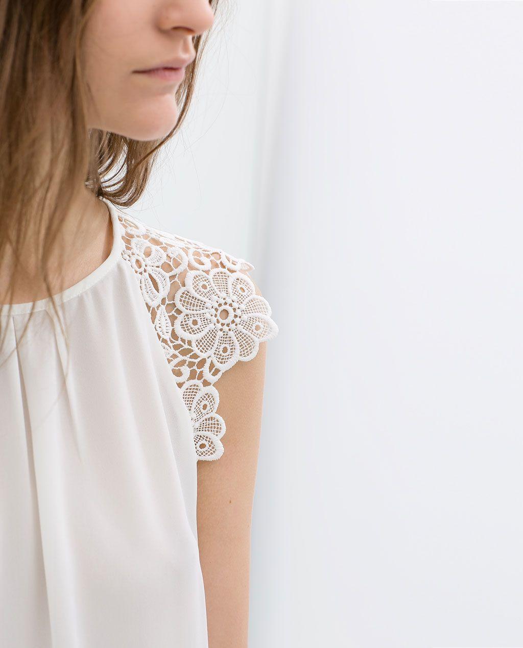 Imagen 5 de TOP MANGA GUIPUR de Zara  ac672882588