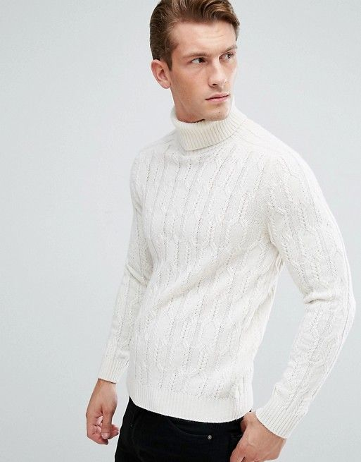 9507658090a Asos off white wool turtle neck | FW18 Style in 2019 | Sweaters ...