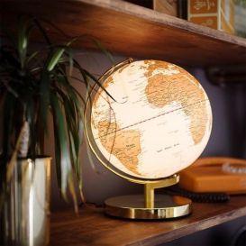 Globe Terrestre Dore Wild Wolf Globe Terrestre Globe Lumineux Globes De Lumiere