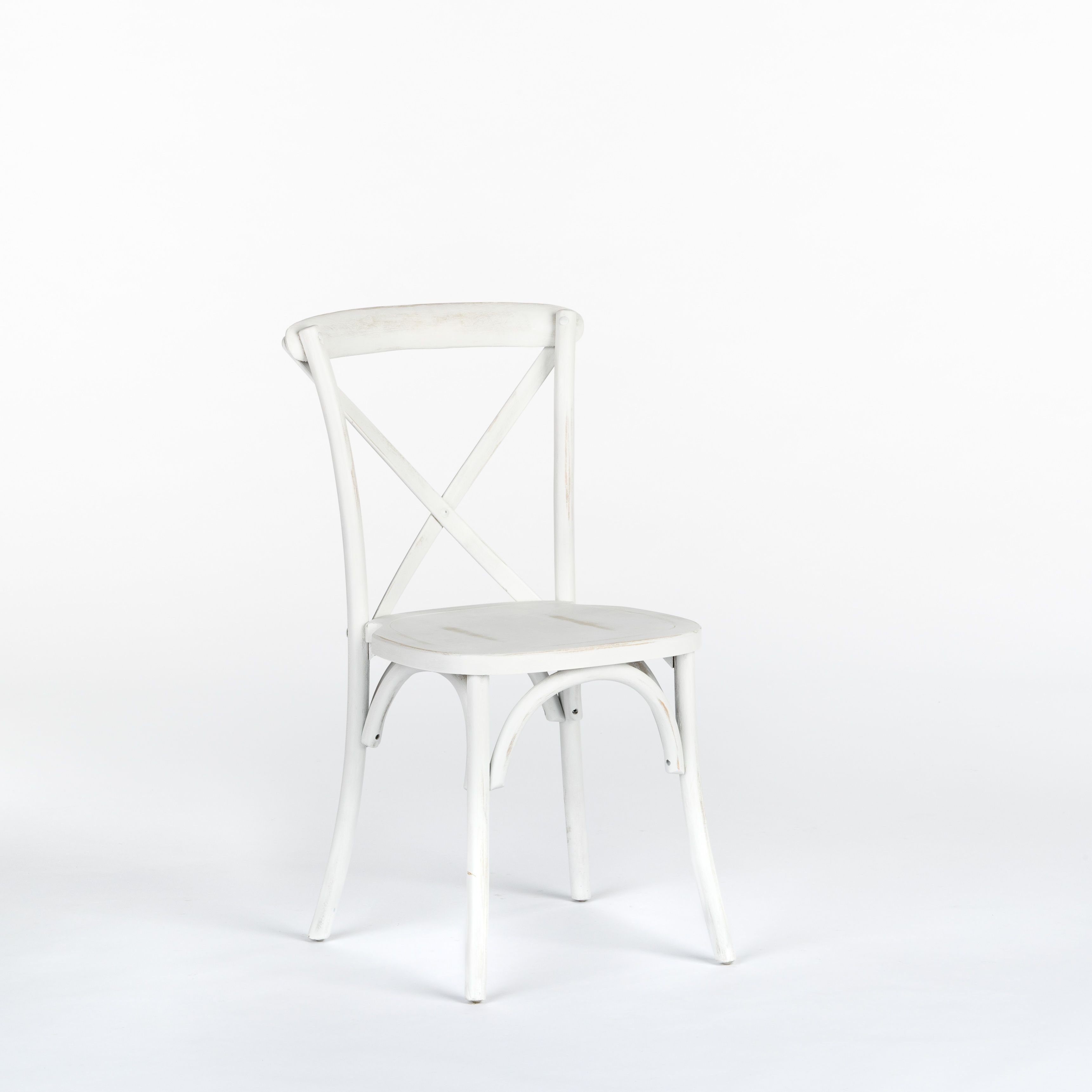 All White Wood, Bistro Chair Does Not Include Chair Pad Chair Pad Optional  (four