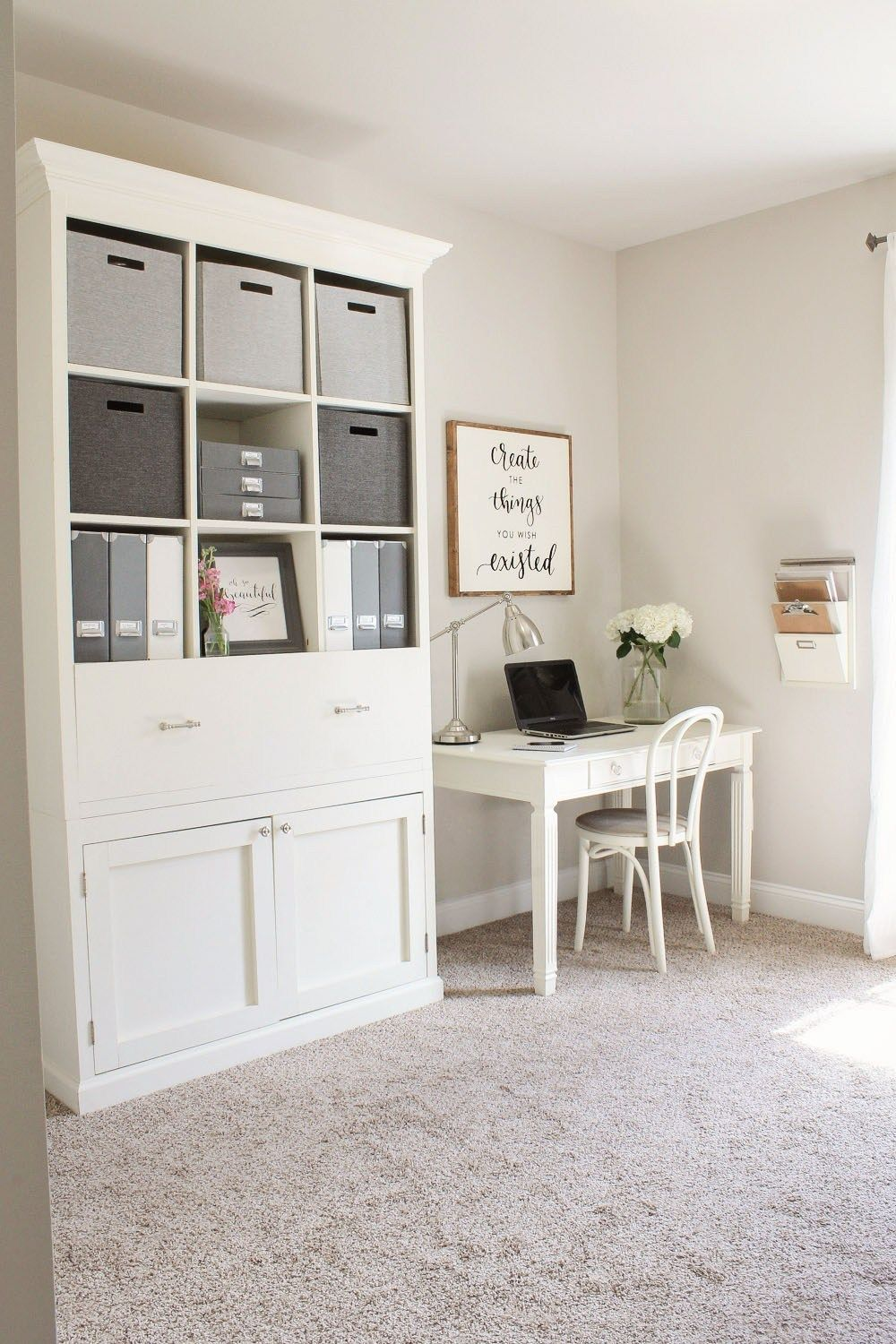 Ikea Home Office Library Ideas: Rustic Chic Home Office Reveal