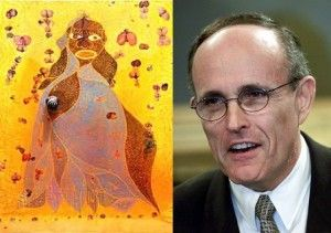 Rudy Giuliani's comments on Chris Ofili's painting may say more about Mr. G than it does about Ofili.  Is literature, and by extension art, a Rorschach test?  Follow the link to this image and find out.  Be sure to 'like', share and leave a comment.