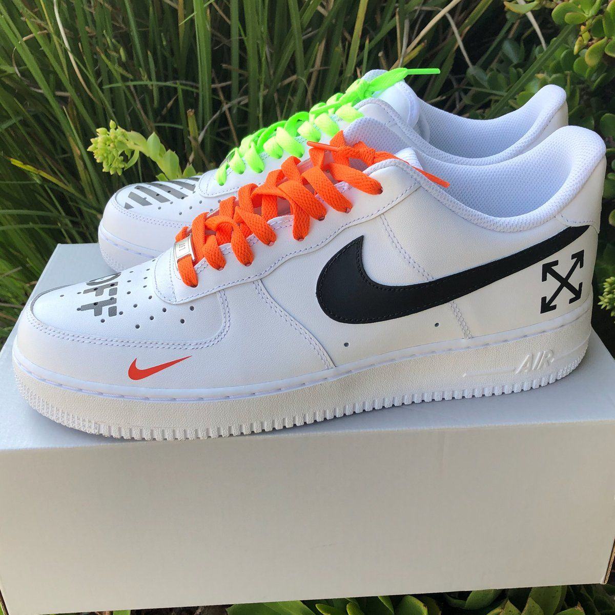 Air Force 1 Off White Inspired Customs 310 La Nike Shoes Air Force Custom Nike Shoes Sneakers