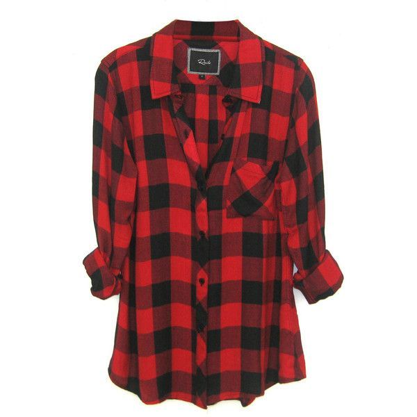 Rails Hunter Plaid Shirt in Black/Red Check found on Polyvore ...