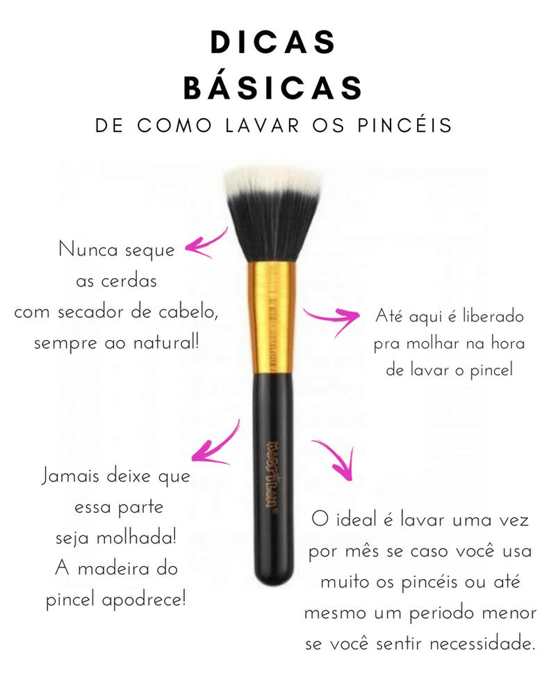 como limpar pincel maquiagem