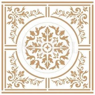 Medida Exterior 20 x 30 cm Medida del dise/ño:17,7 x 25,6 cm Medidas aproximadas TODO-STENCIL Deco Adamascado 040