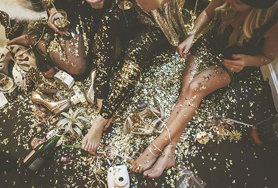 Glitter celebrations! Great idea for a NYE festival *FALLS!*