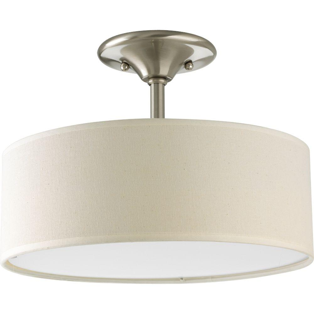 Progress Lighting Inspire Collection 13 In 2 Light Brushed Nickel