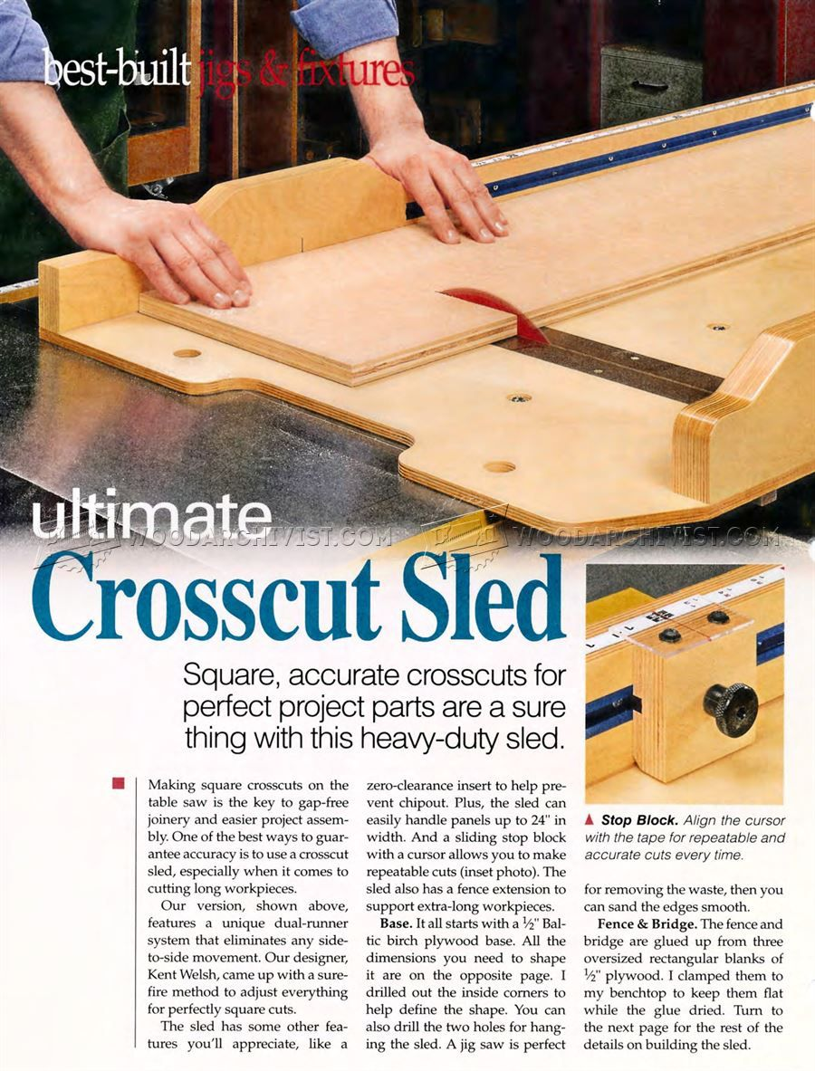 616 Ultimate Crosscut Sled Plans Table Saw Tips Jigs And
