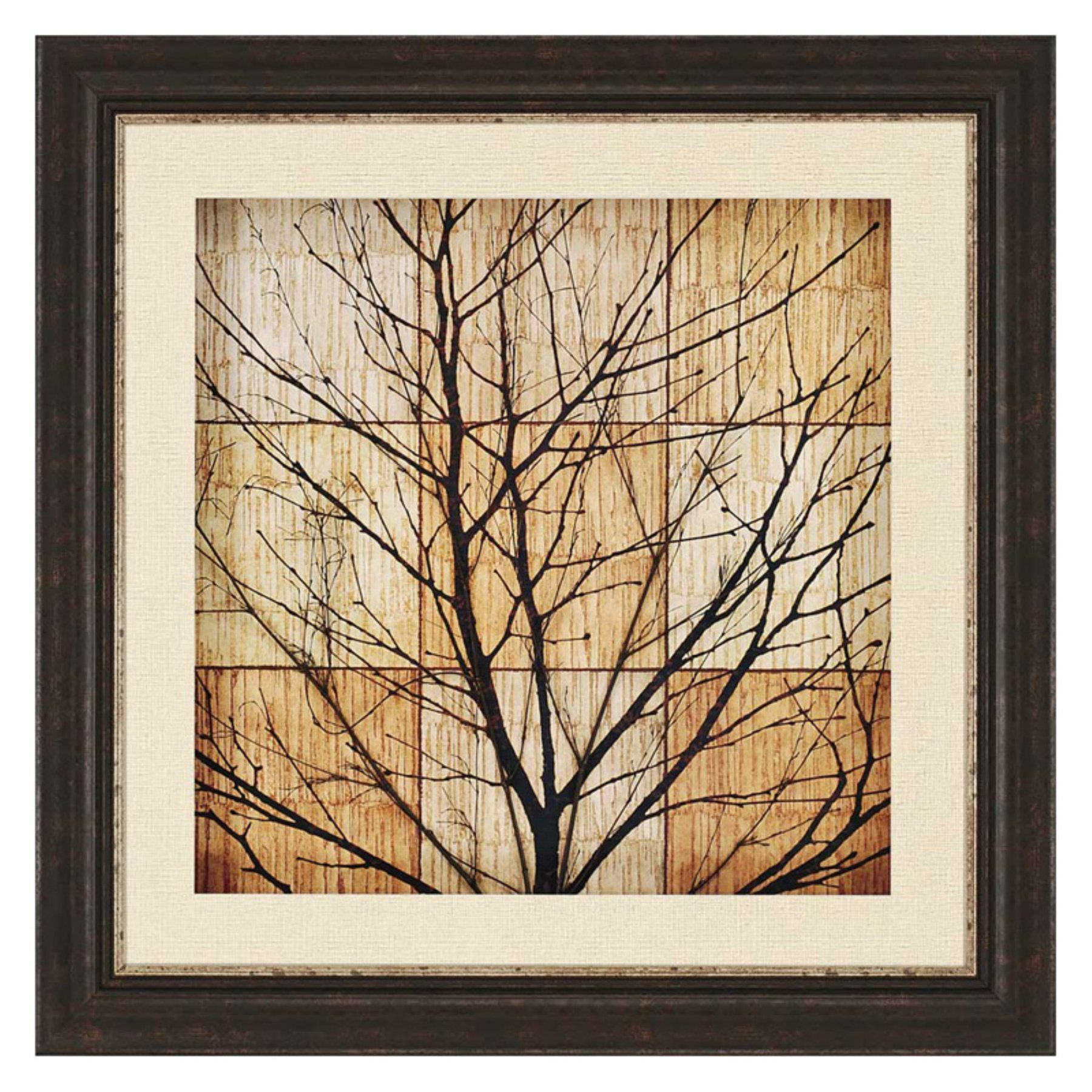 Paragon decor tree silhouette ii framed wall art tree