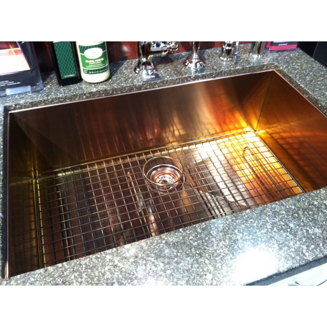 Stainless Steel Sink With A Copper