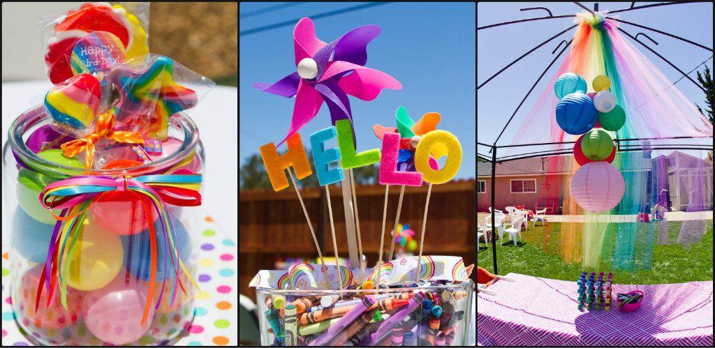 rainbow party decorationshttpatozebracelebrationscom201302