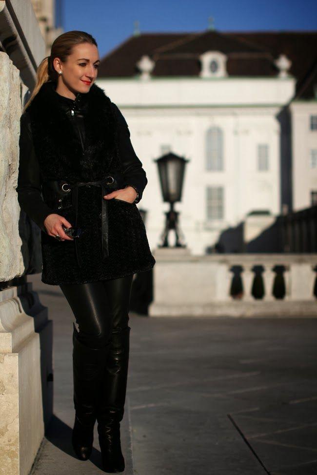 leather jacket - Mango / fake fur vest - Asos / pants - Zara / boots, watch - Buffalo / sunglasses - H&M / bracelets - Swarovski / rings - Thomas Sabo, engagement ring / earrings - Vintage