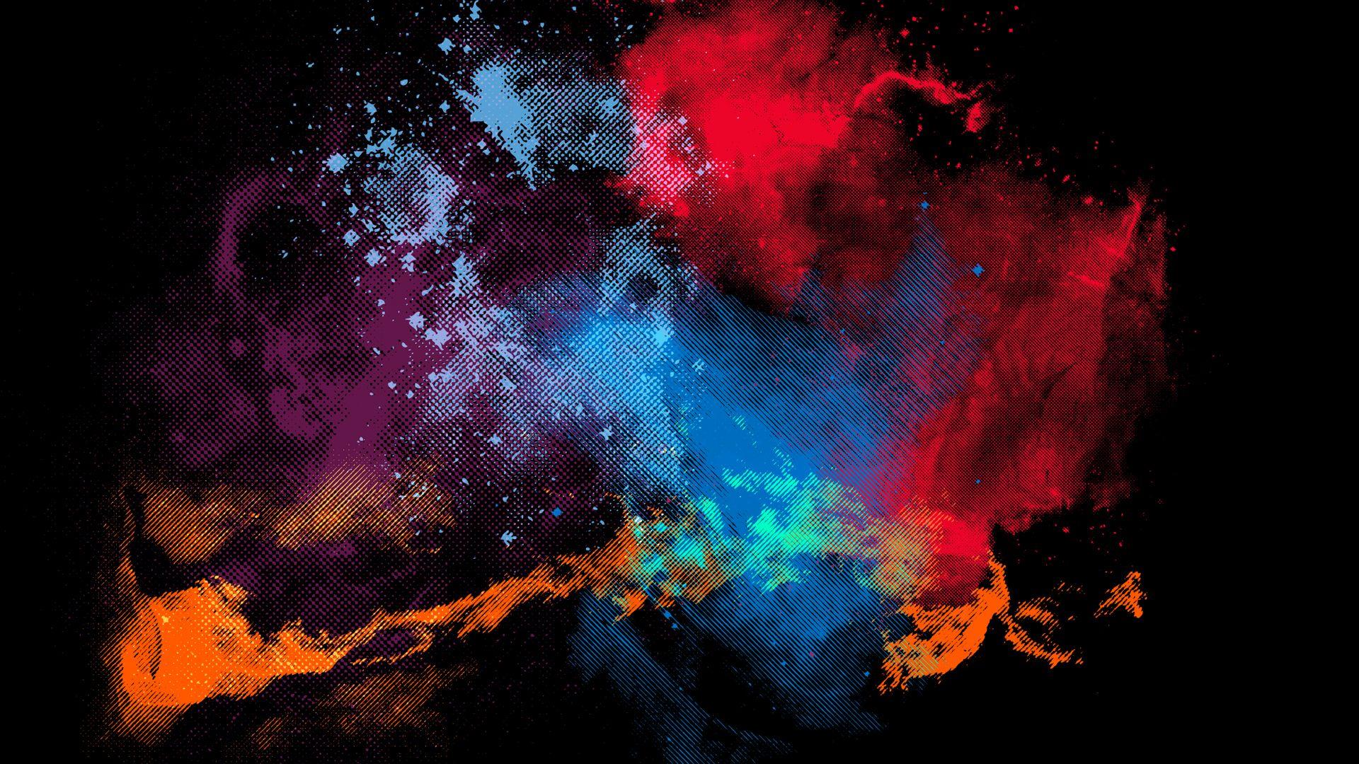 Обои брызги, Цвет. Абстракции foto 9