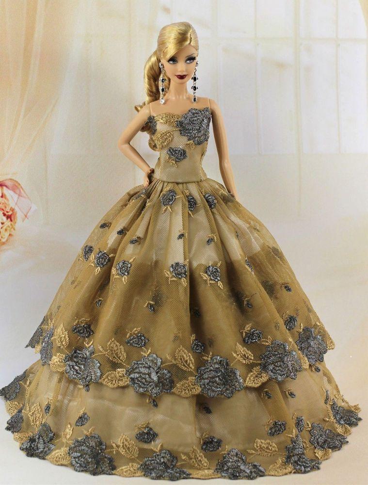Vestido De Fiesta Para Barbie O Similar V 361 En 2019