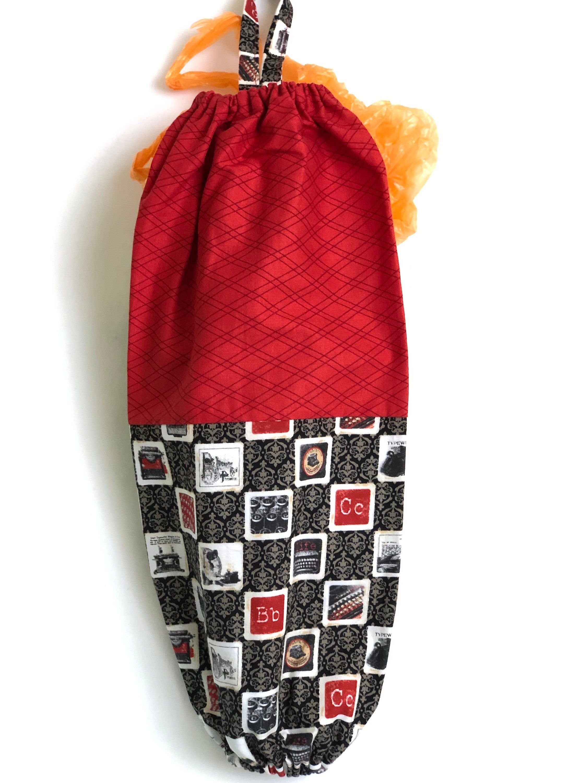 Large Brown Paisley Bag Holder Plastic Bag Dispenser Retro Etsy Fabric Gifts Plastic Bag Dispenser Bag Holder