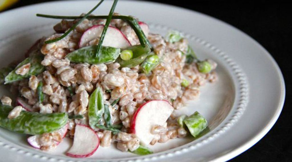 Recipe: Creamy Farro Salad