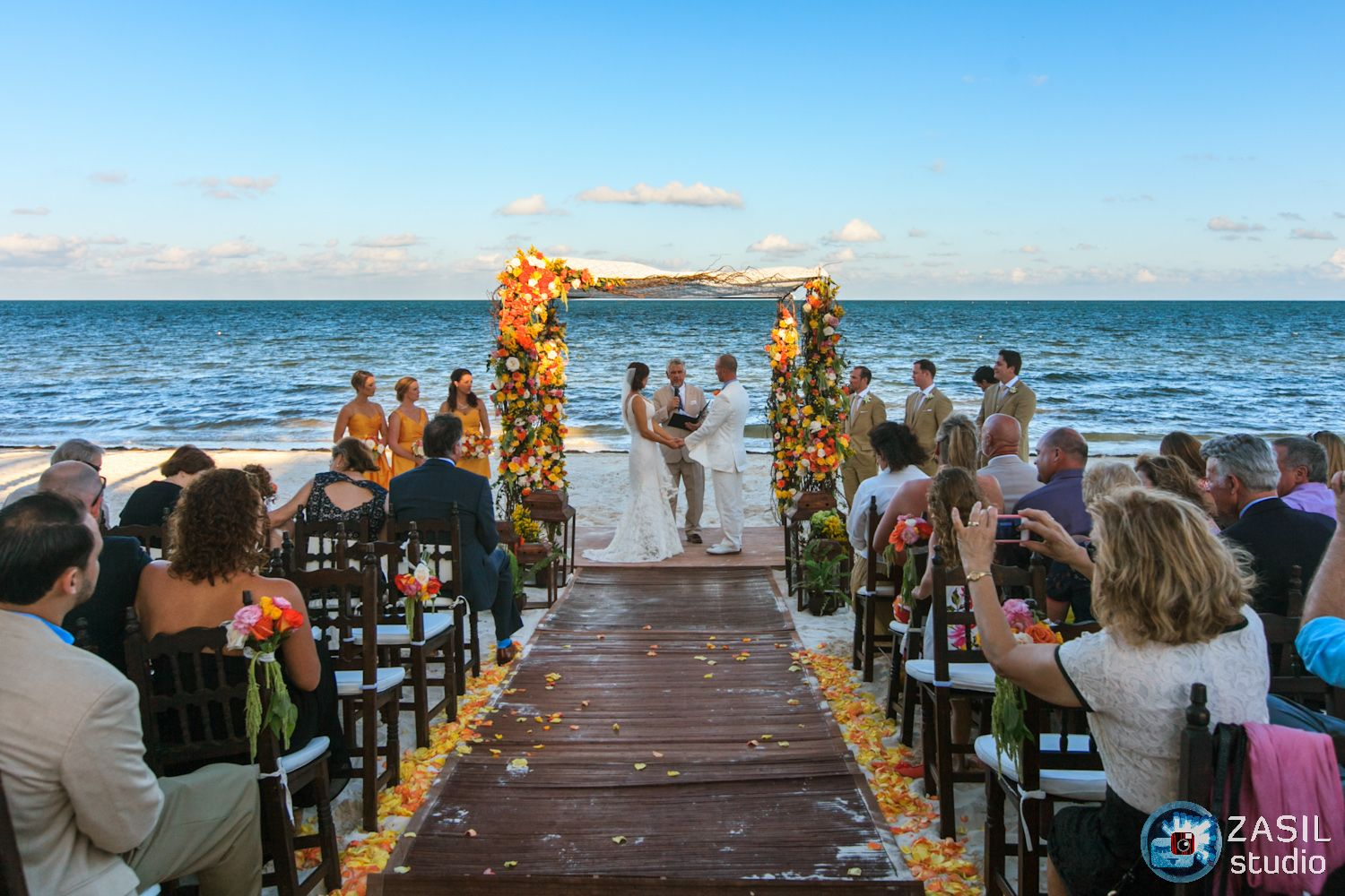 small beach wedding ceremony ideas%0A Nothing says paradise like a beautiful destination wedding bursting with  color in Riviera Maya  Mexico  photographed beautifully by Zasil Studio