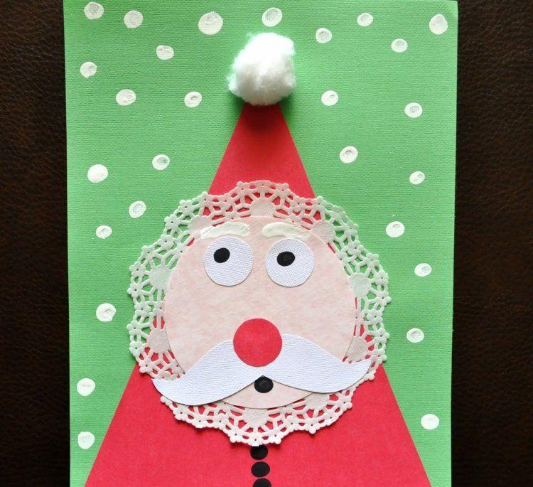 Basteln Sie eine Weihnachtskarte mit einem Weihnachtsmann