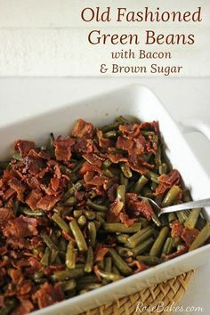 Old Fashioned Green Beans with Bacon #greenbean