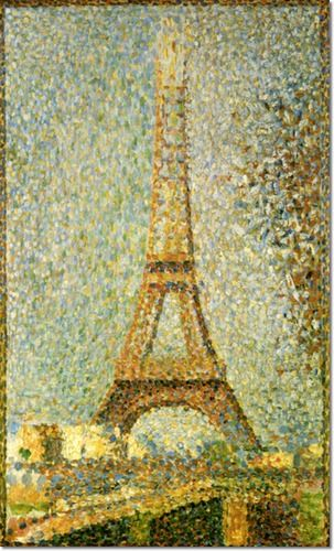 Image detail for -... Master Painting - The Eiffel Tower 1889 by ...
