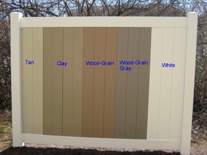 Available Colors A Vinyl Fence And Vinyl Deck Wholesaler