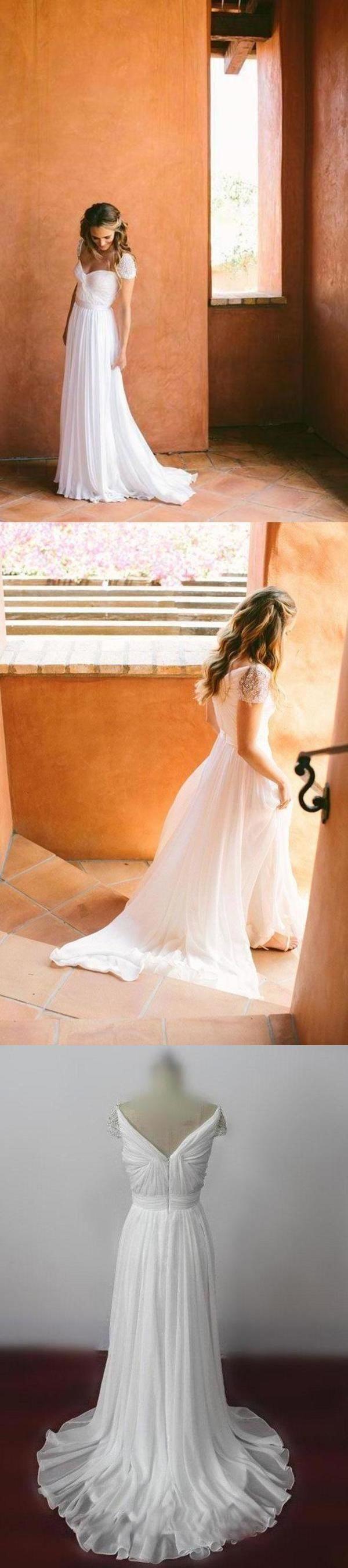 Photo of Wedding dresses  #beaded #chiffon #wedding #dress beaded chiffon wedding dress, …
