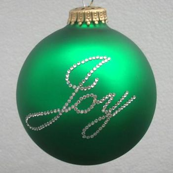 Christmas Script Ornament  Joy  Christmas Tree Ornaments