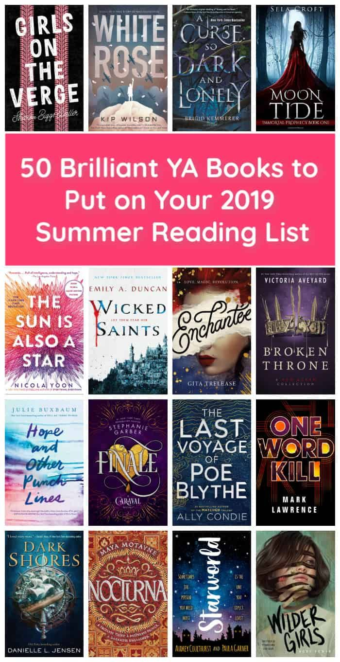 50 Brilliant Ya Books To Put On Your Summer Reading List Books To Read In Your Teens Ya Books Books For Teens