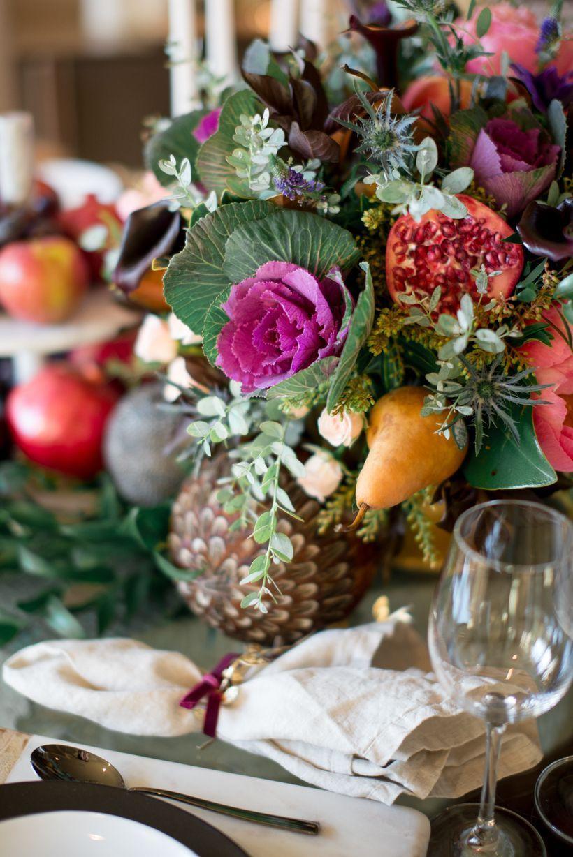 A Midwinter Night S Dream Christmas Table Decorations Flower Centerpieces Fruit Centerpieces