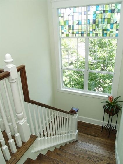 Houzz Tour A New Home Honors A Historic Neighborhood | Stairs Window Glass Design | Classic | Foreign Window | Simple | Stairwell | Grill
