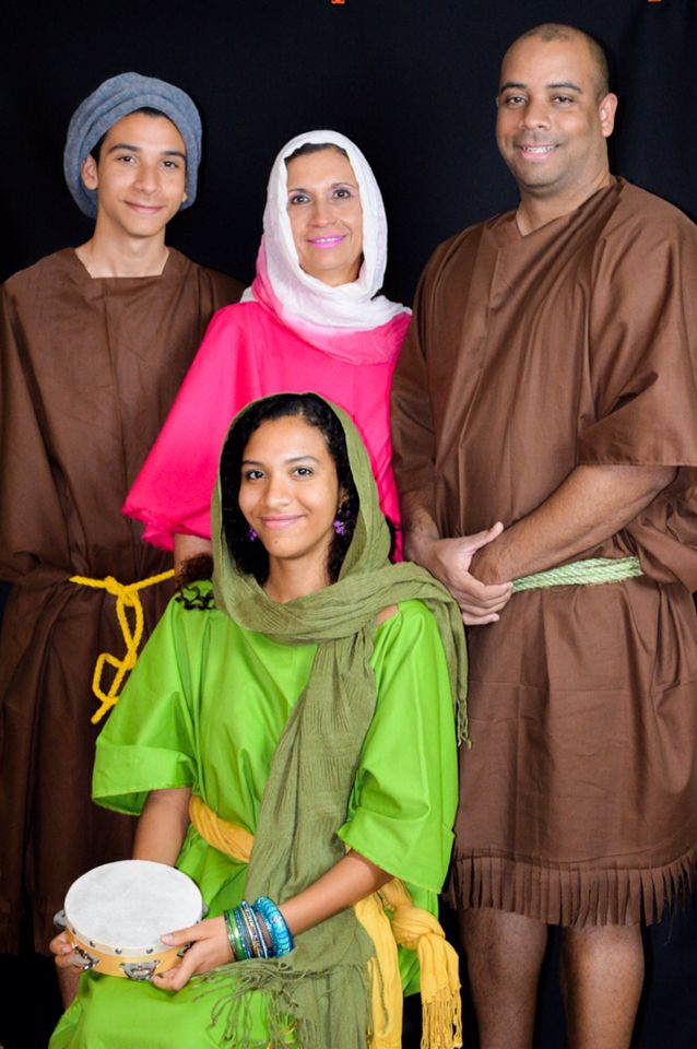 """Celebrating another Book completion, """"Imitate Their Faith"""" September 2016.  Young David, Miriam, Abigail and  John the Baptist  Want to learn about this people of faith? Visit JW.org   Photographer By: AriStyle Shots  Bible Character Costume  Young David, Miriam, Abigail and  John the Baptist ."""